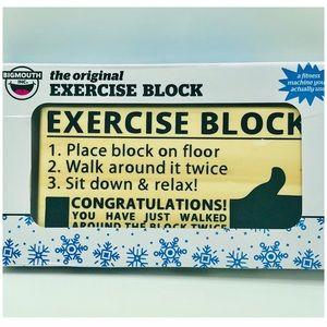 The Original Exercise Block Gag Gift Wall Decor